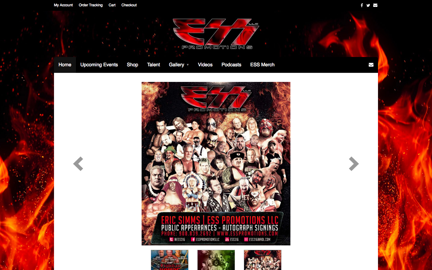 Website Development & Hosting for ESS Promotions LLC