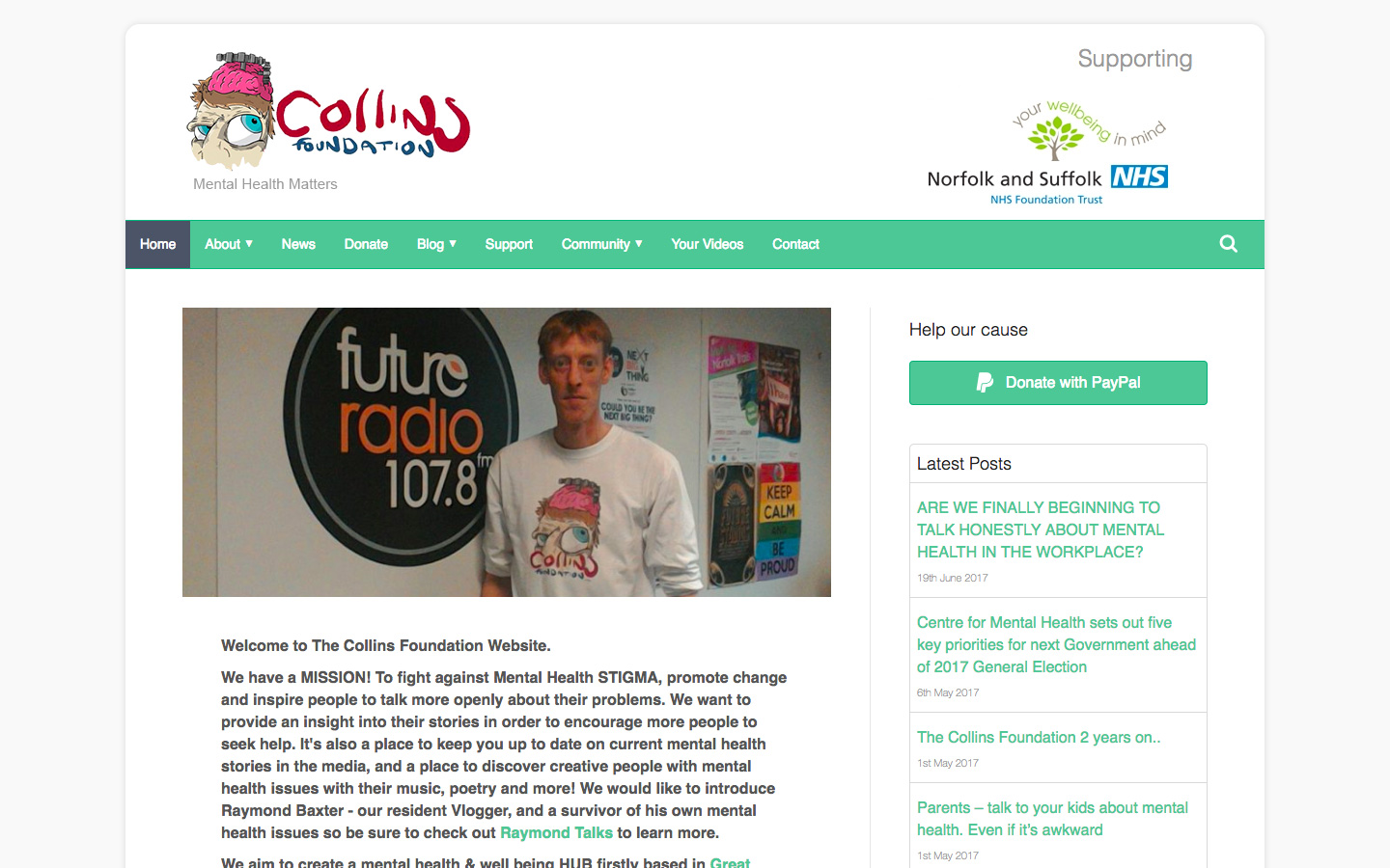 Web Hosting & Design for Local Charity The Collins Foundation
