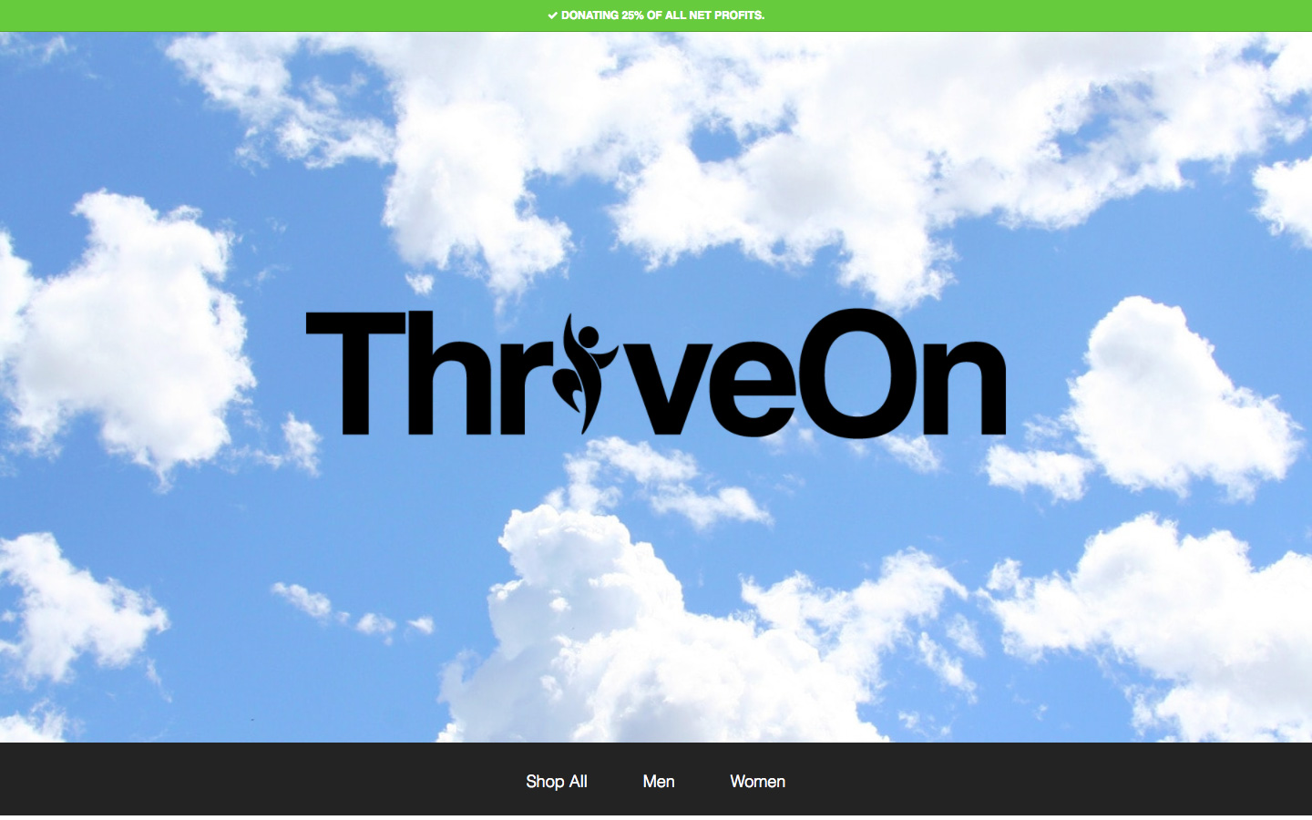 Web Design for ThriveOn Apparel